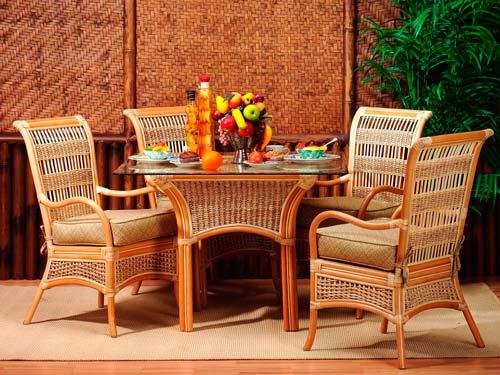Мебель из ротанга отличается прочностью