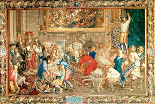Гобелены впервые начали ткать в XVII веке