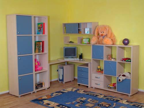 Отличное решение для хранения вещей в детской - стенка-горка