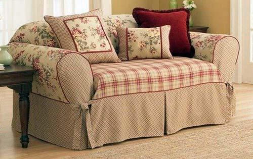 Фасон чехла может изменить внешний вид дивана