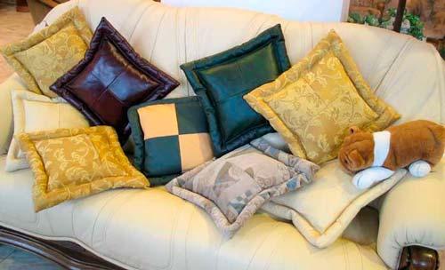 Диванные подушки своими руками — как сделать?