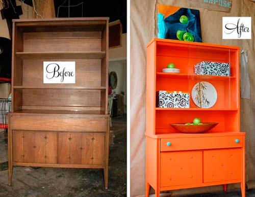 Если вам надоела старая мебель, ее можно просто перекрасить
