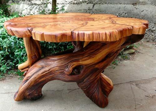 Оригинальная мебель своими руками — процесс обработки.