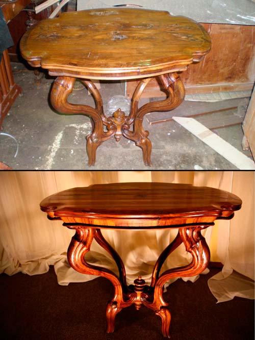 После такой тщательной работы мебель приобретает вид новой