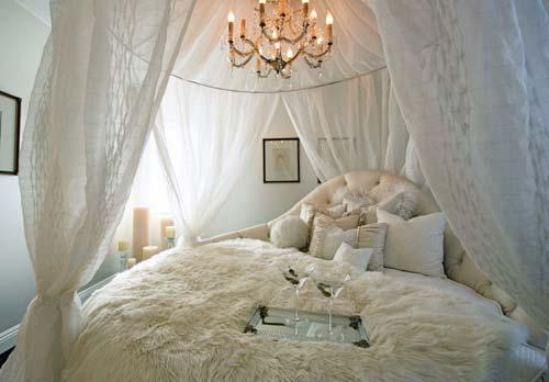 Круглая кровать - оригинальное решение