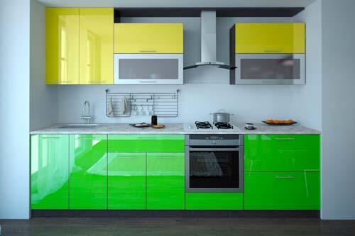 У кухонных фасадов из пластика много плюсов