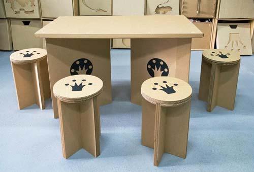 Для тех, кто предпочитает экологичные вещи, создали мебель из картона