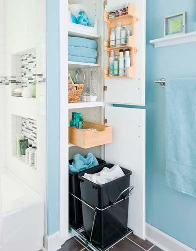 Ухаживать за мебелью в ванной легко
