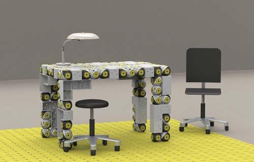 Использование модульных роботов со встроенными моторами позволит создать трансформирующуюся  мебель