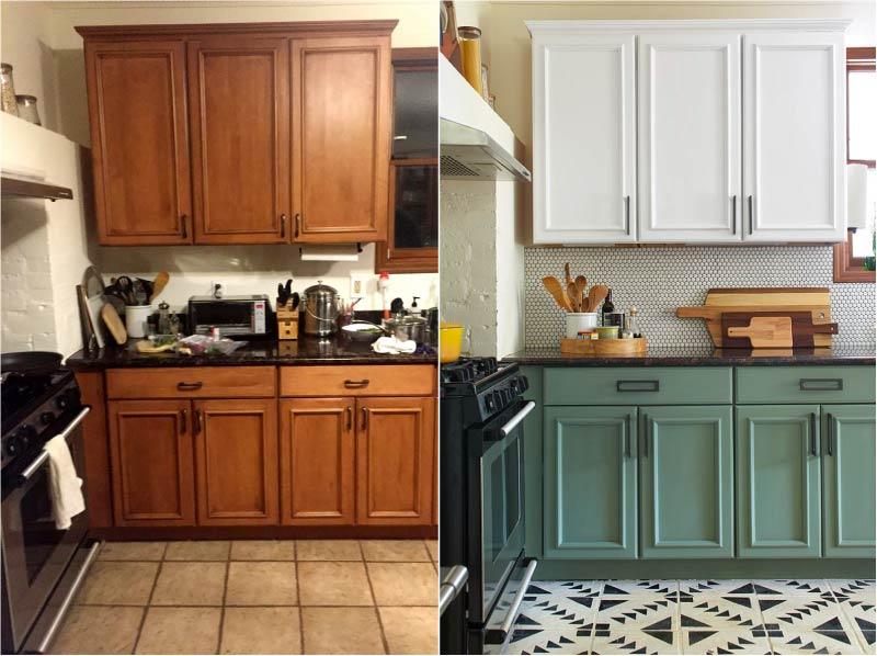 Перекраска кухонного гарнитура.