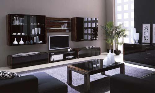 Чаще всего корпусную мебель используют для гостиных