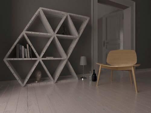 Проект предусматривает возможность сборки различных предметов мебели с использованием максимально простых составных элементов