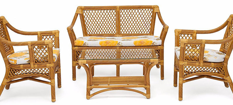 Как ухаживать за мебелью из ротанга?