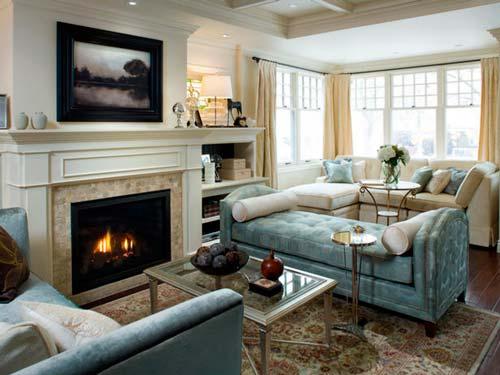Как подобрать камин в интерьер гостиной