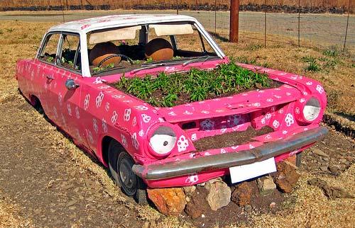 Автомобиль можно частично вкопать в грунт